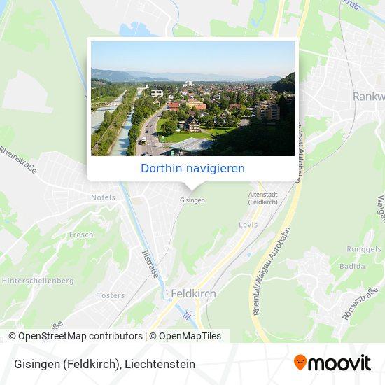 Gisingen (Feldkirch) Karte