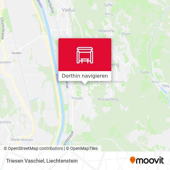 Triesen Vaschiel Karte
