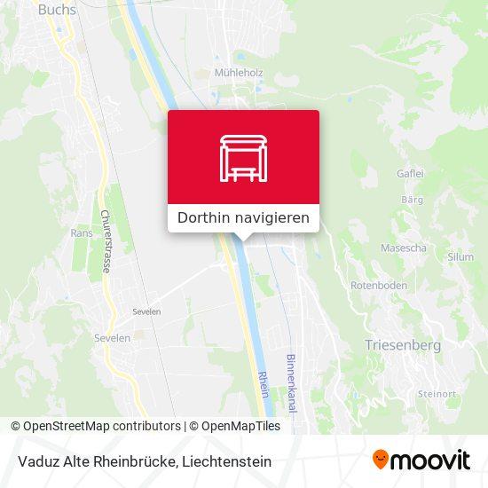 Vaduz Alte Rheinbrücke Karte