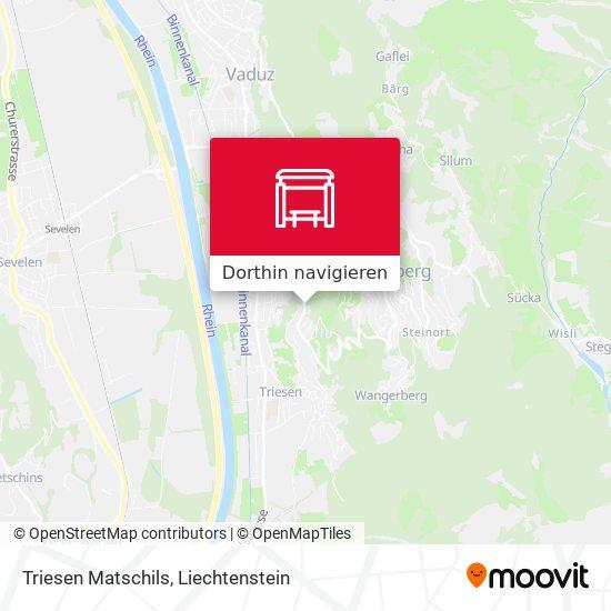 Triesen Matschils Karte