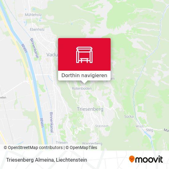 Triesenberg Almeina Karte