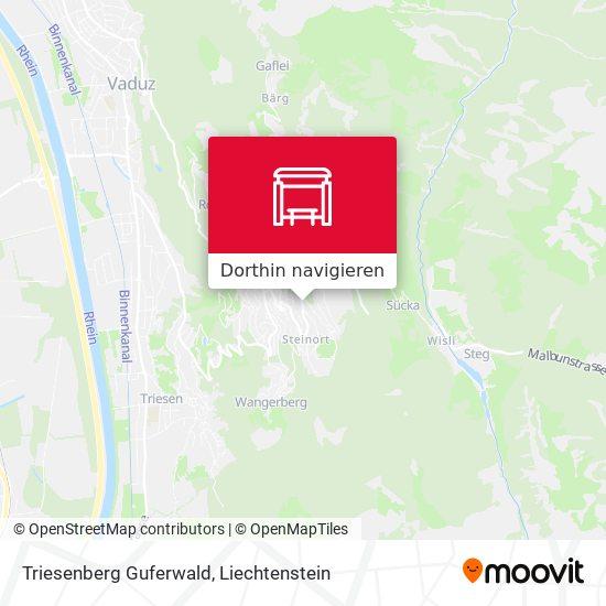 Triesenberg Guferwald Karte
