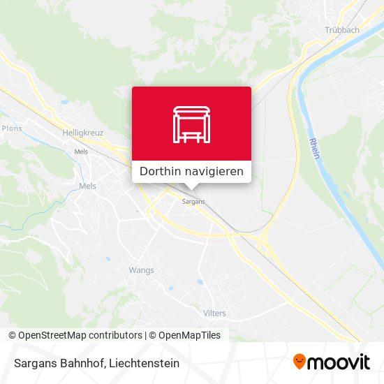 Sargans Bahnhof Karte