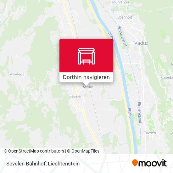 Sevelen Bahnhof Karte