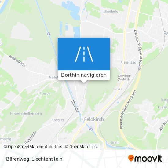 Bärenweg Karte