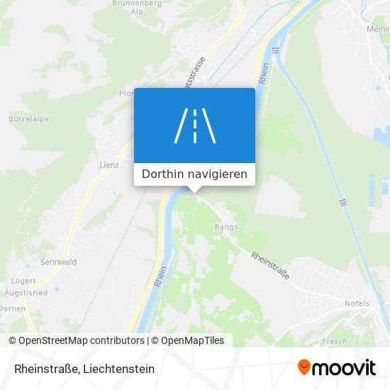 Rheinstraße Karte