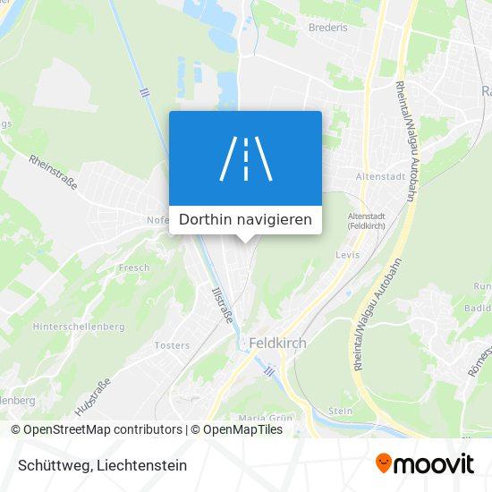 Schüttweg Karte