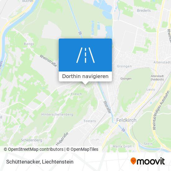 Schüttenacker Karte
