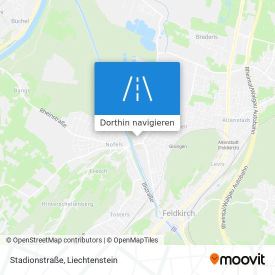 Stadionstraße Karte