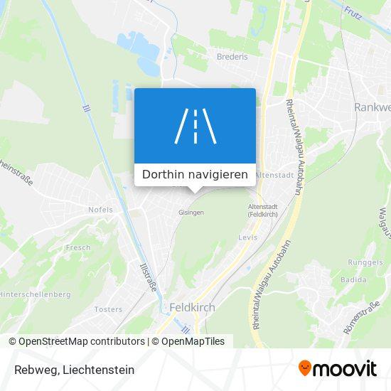 Rebweg Karte