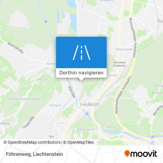Föhrenweg Karte