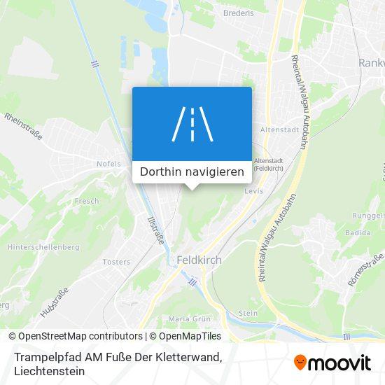 Trampelpfad AM Fuße Der Kletterwand Karte
