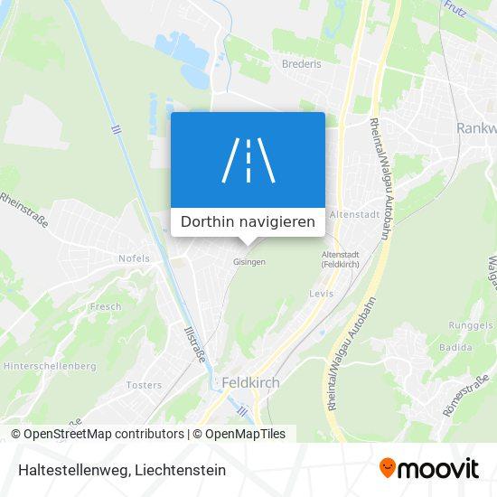 Haltestellenweg Karte