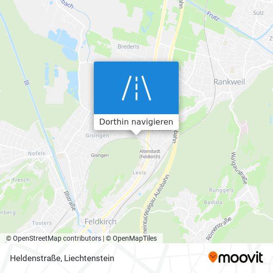Heldenstraße Karte