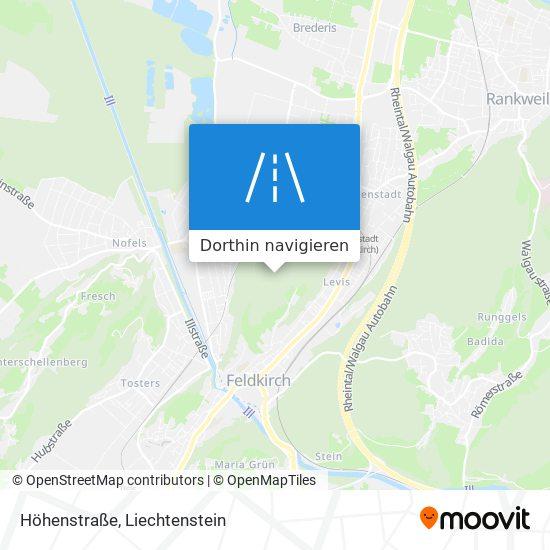 Höhenstraße Karte