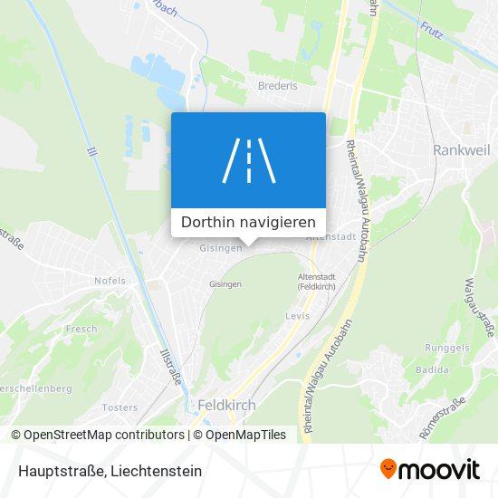 Hauptstraße Karte