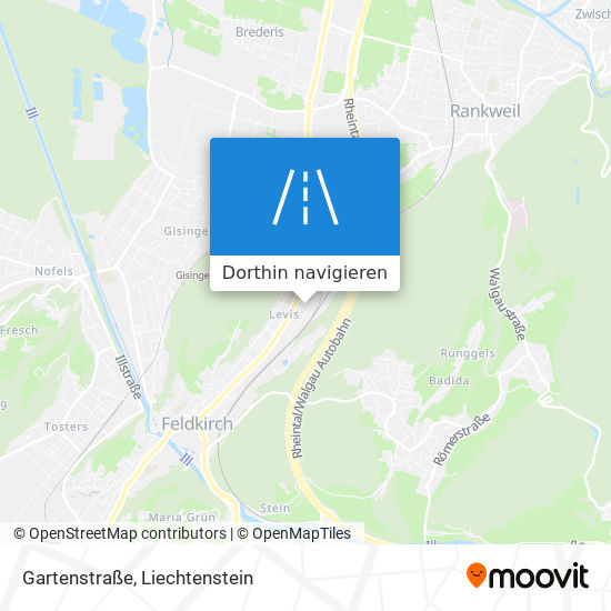 Gartenstraße Karte