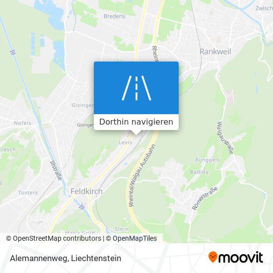 Alemannenweg Karte