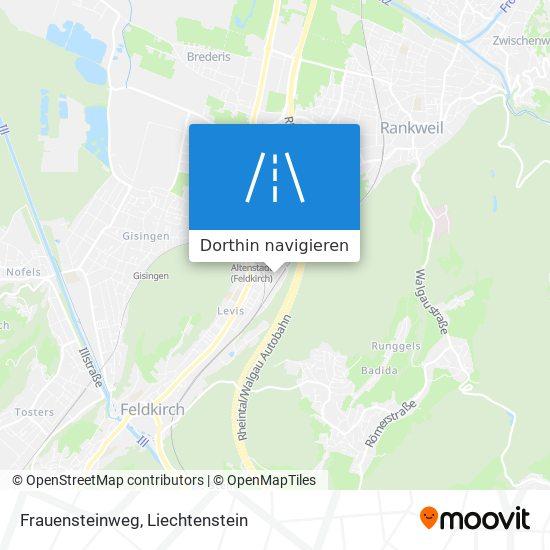 Frauensteinweg Karte