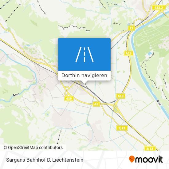 Sargans Bahnhof D Karte