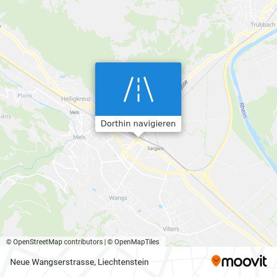 Neue Wangserstrasse Karte
