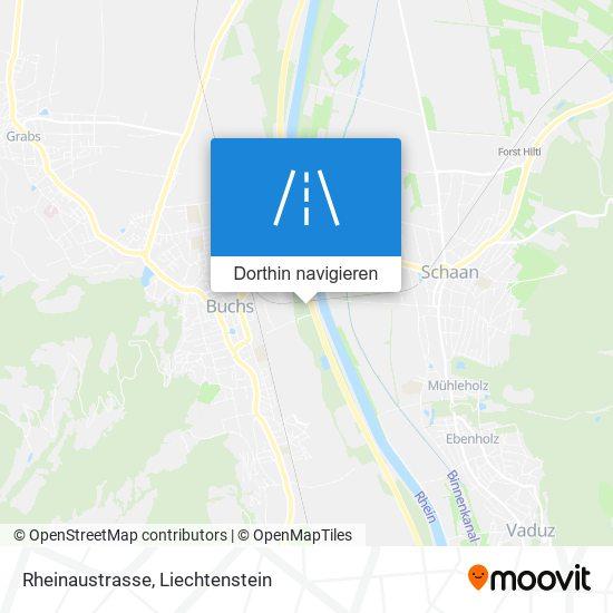 Rheinaustrasse Karte