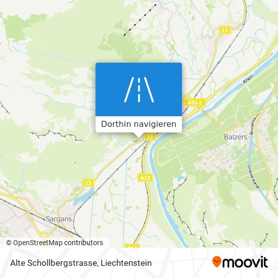 Alte Schollbergstrasse Karte
