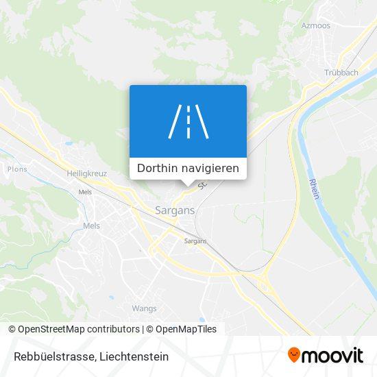 Rebbüelstrasse Karte