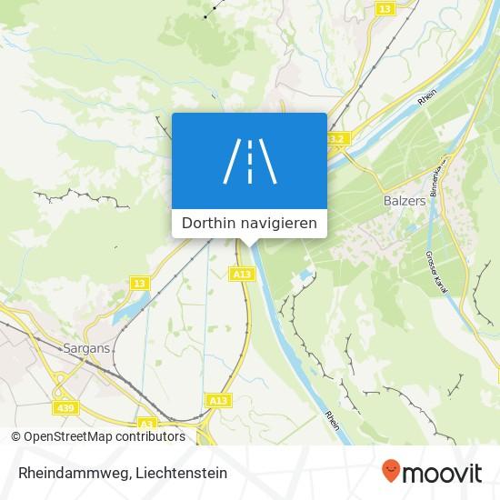 Rheindammweg Karte