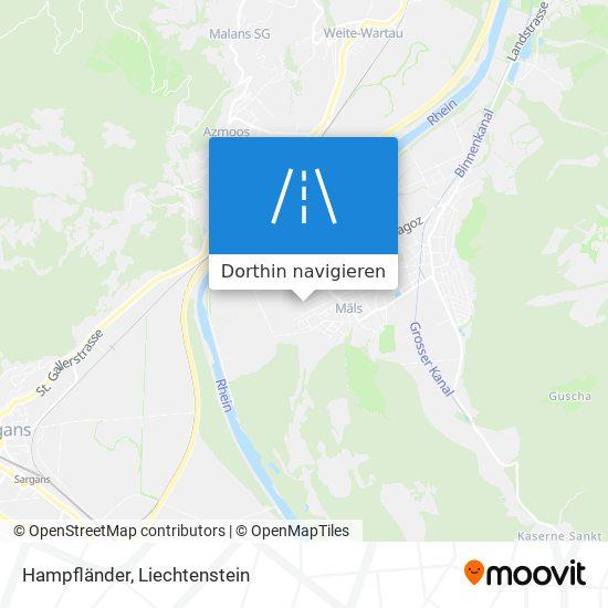 Hampfländer Karte