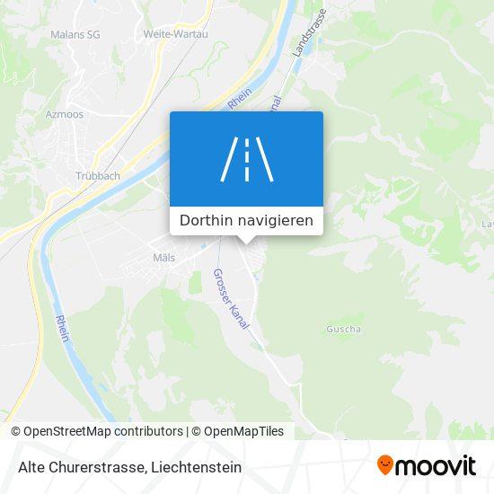 Alte Churerstrasse Karte