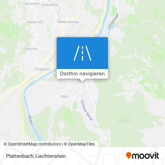 Plattenbach Karte