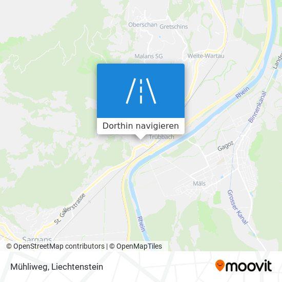 Mühliweg Karte