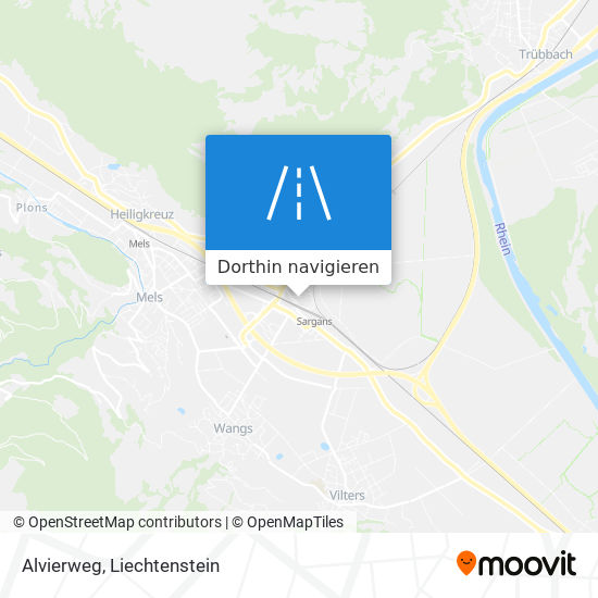 Alvierweg Karte