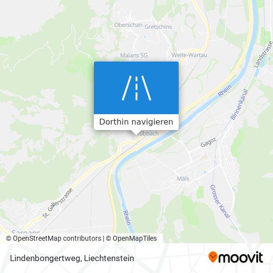 Lindenbongertweg Karte