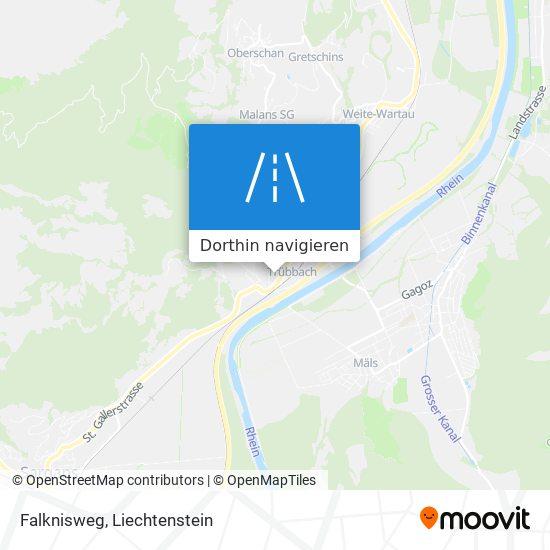 Falknisweg Karte