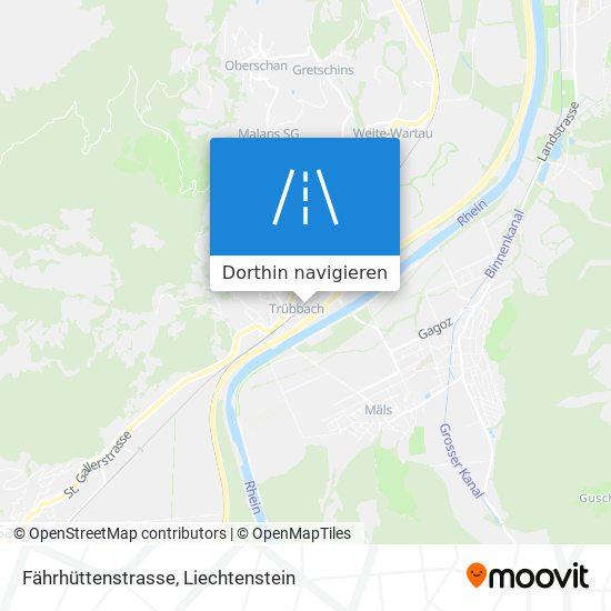 Fährhüttenstrasse Karte