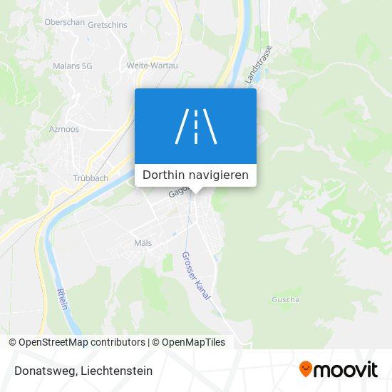Donatsweg Karte