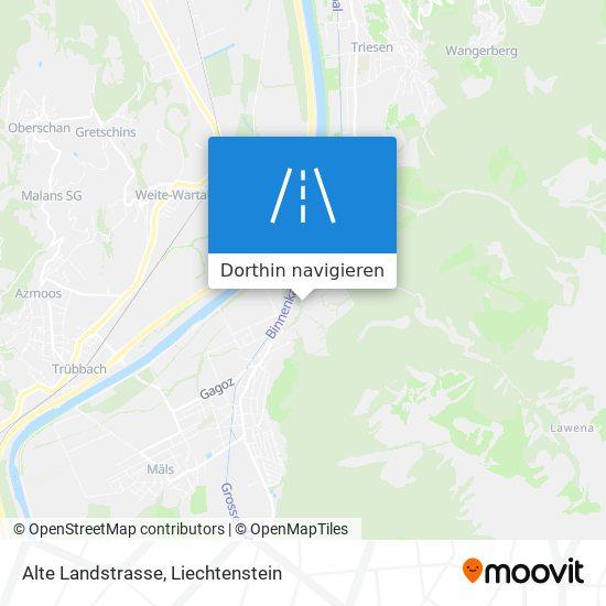 Alte Landstrasse Karte