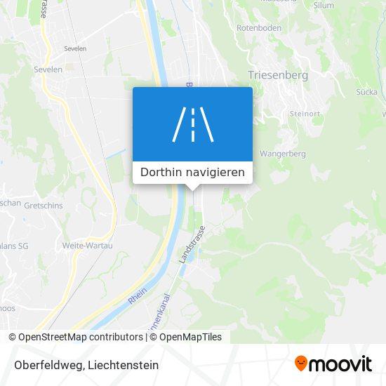 Oberfeldweg Karte