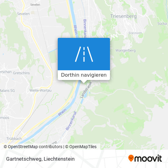 Gartnetschweg Karte