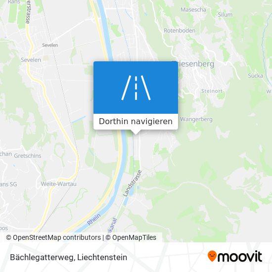 Bächlegatterweg Karte