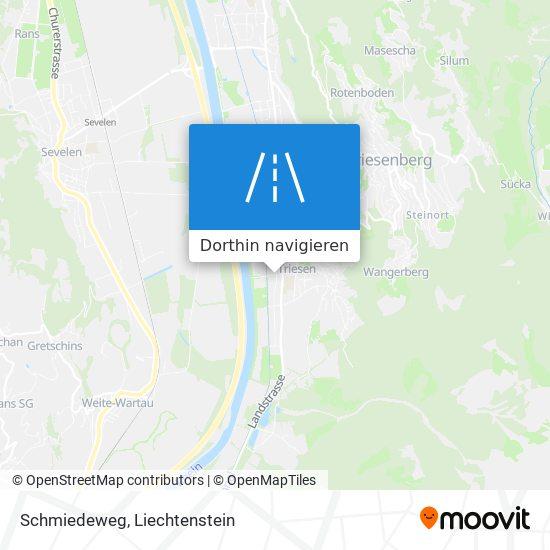 Schmiedeweg Karte