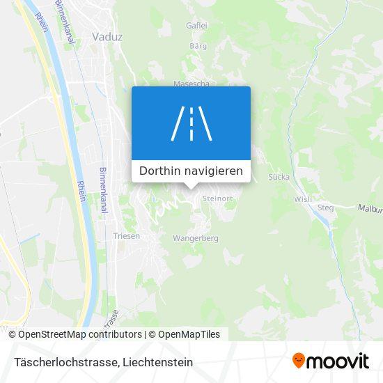Täscherlochstrasse Karte