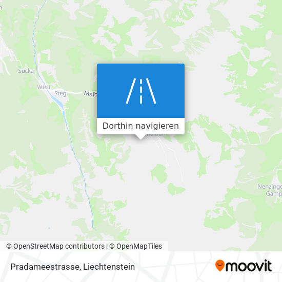 Pradameestrasse Karte