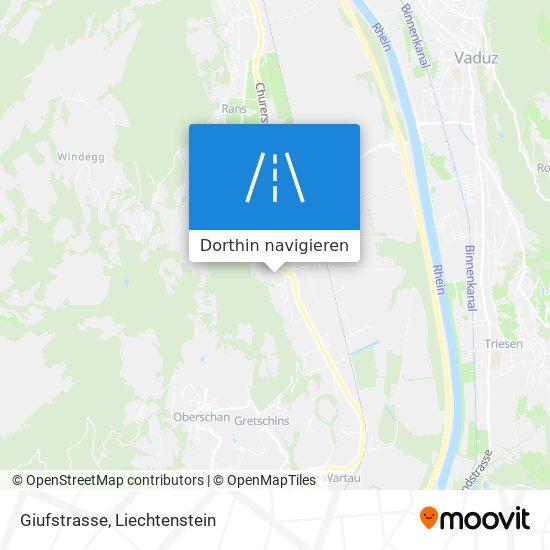 Giufstrasse Karte