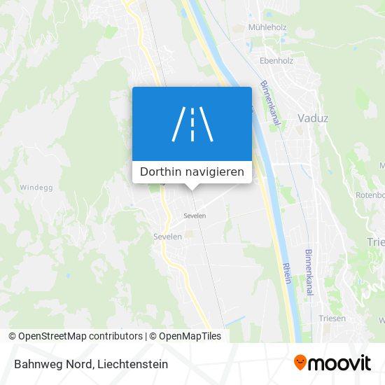 Bahnweg Nord Karte