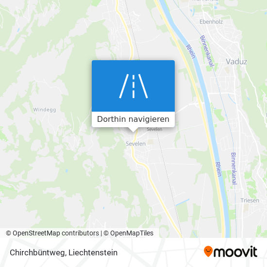 Chirchbüntweg Karte