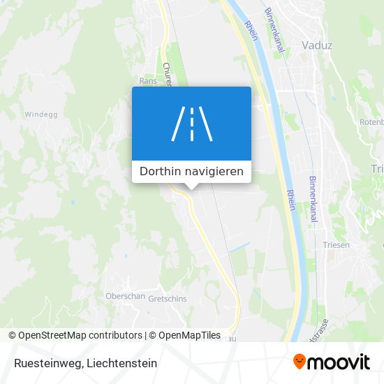 Ruesteinweg Karte