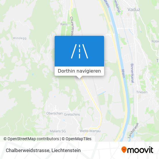 Chalberweidstrasse Karte